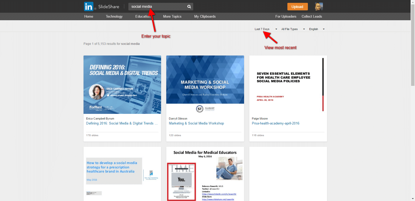 slideshare for social media content