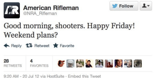 american rifleman nra bad tweet timing