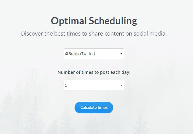buffer optimal posting times settings