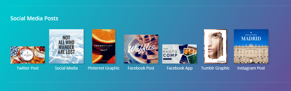 social media images canva
