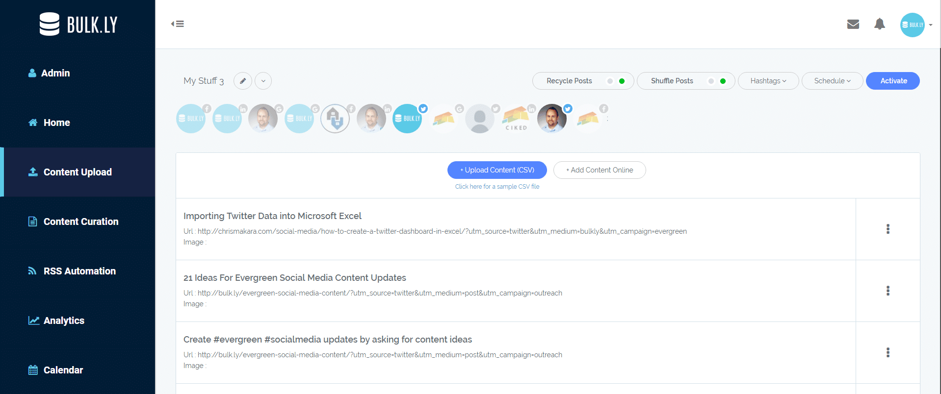 Recycle Social Media Posts on Buffer at Epic Scale With Mass Automation 2
