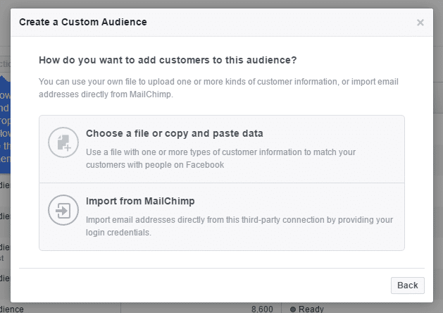 facebook custom audience data source