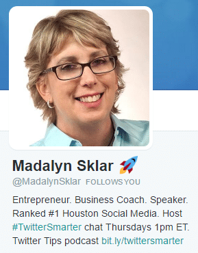 good twitter bio madalyn sklar