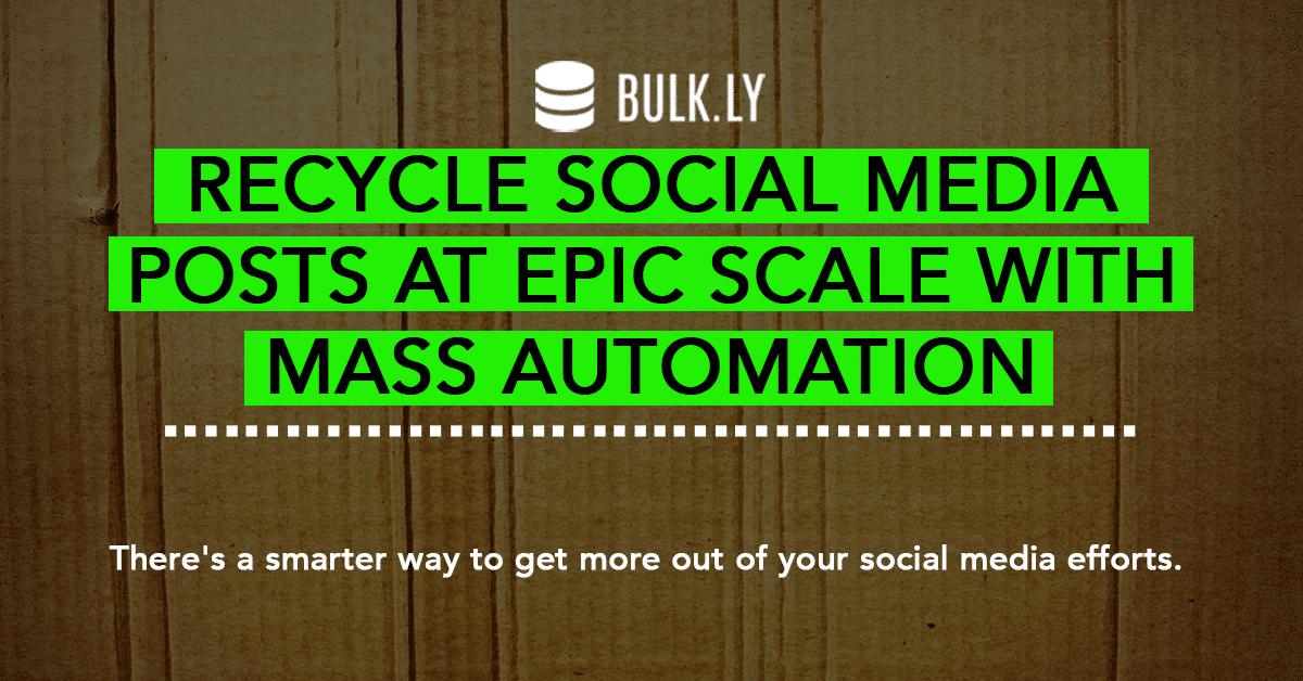 recycle social media posts