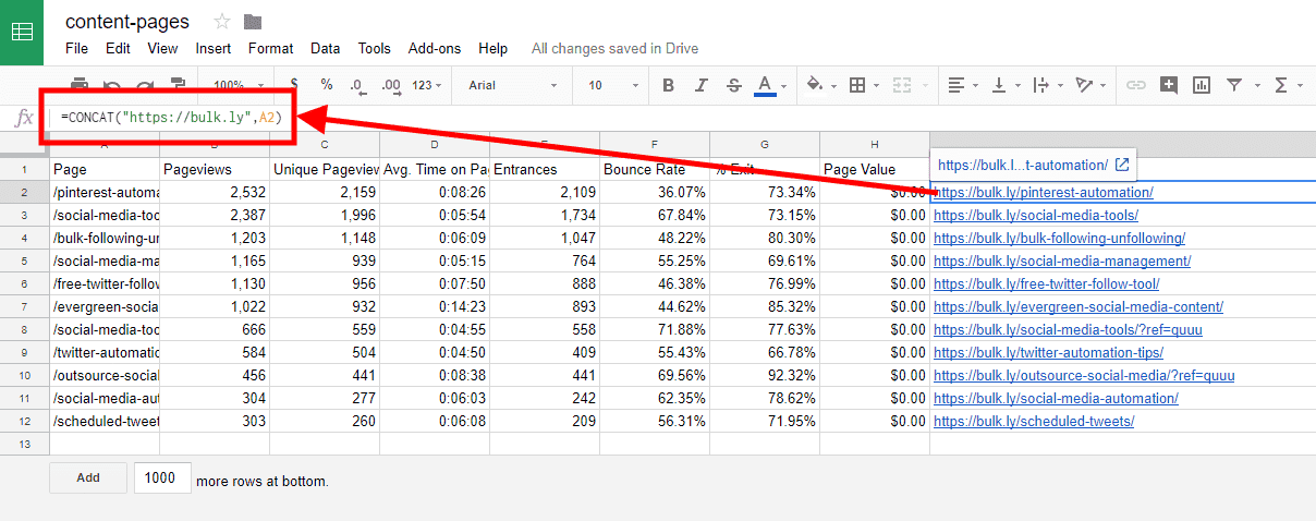 adding-URL-to-google-analytics-data-in-google-sheets
