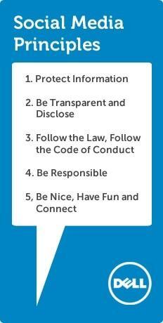 Dell's list of rules for social media