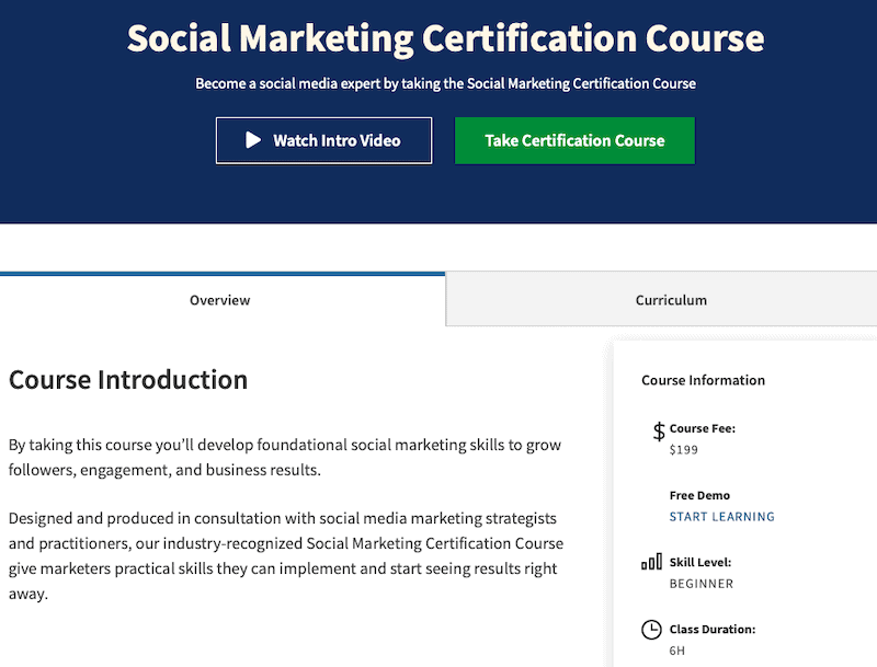 15 Social Media Training Courses That Will Make You a Better Marketer 1