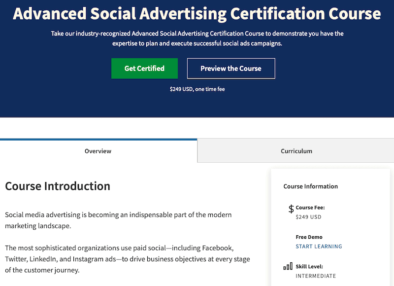 15 Social Media Training Courses That Will Make You a Better Marketer 3